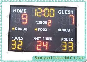 Indoor Outdoor Led Basketball Scoreboard With Wireless Remote Controller