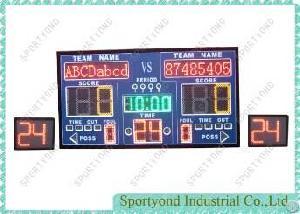 Led Sports Scoreboard And 24 Sec Shot Clock For Basketball Game