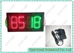 Red And Green Led Substitution Boards For Football Futsal Soccer Rugby , Double Face Display, 2 Side