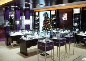 Sell Jewellery Showcase, Display Case And Display Cabinet For Jewelry With Fiber Optic Light