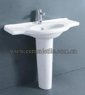 Bathroom Pedestal Sink, Corner Pedestal Sink A4063 | ceramictile ...