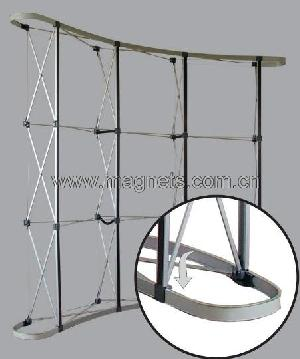 adhesive magnetic strip exhibition pop up stands truss display system