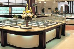 Jewellery And Watch Showcases , Display Cabinet And Led Lightings In The Macao Gaming House 2007
