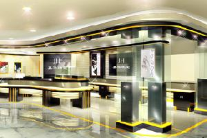 Watch Retail Store With The Led Lighting And Display Showcases And Display Cabinets