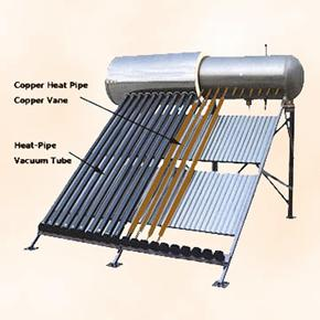 Pressurized Compact Solar Water Heater, Vacuum Tube, Solar Thermal Panel