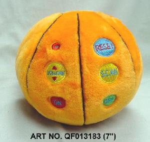 plush electronic toys qf013183 scan radio basketball shaped