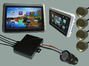 Newly Car Gps Navigation With Wireless License Plate Camera And Wireless Reverse Parking Sensor