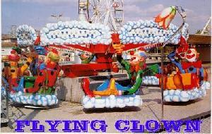 amusement ride flying clown