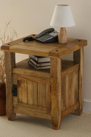 Mango Wood Bedside Cabinet, Mango Wood Indian Furniture