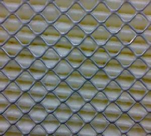 Diamond Decorative Expanded Metal Carbon Steel , Aluminium, Stainless Steel