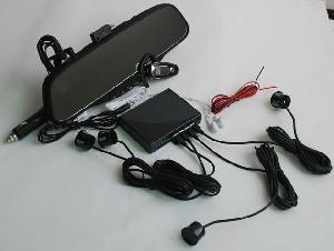 Bluetooth Rear View Mirror With Wireless Fm Earpiece And 4 Rear In-bumper Sensors Bt-628ec4