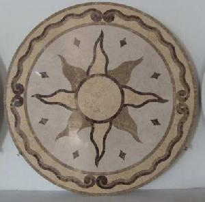 Supply Water Jet Marble Medallions Pattern Inlay Insert For Flooring Medallion For Hotel Porjects