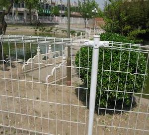 White Powder Coated Fence , White Welded Wire Fencing