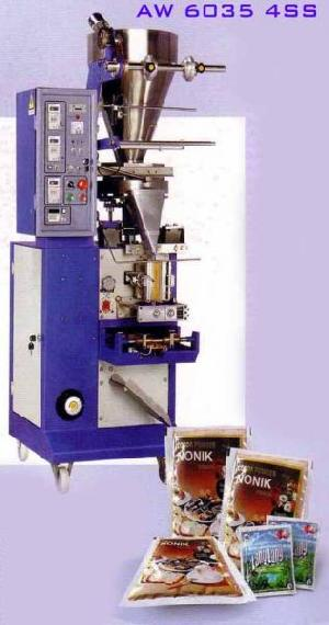 Vertical Packaging Machine Aw 6035 4ss 4 Side Seal For Powder, Seed, Granule