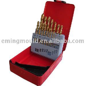 twist drills din 338 drill bits 19 hss tin n metal box