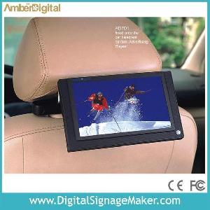 7 lcd car taxi advertising player pop pos media display digital advertisin