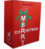 Sell Christmas Designs Of Gift Bags-art Paper With Gloss Lamination