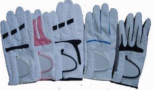 golf glove cabretta leather microfiber sheepskin goatskin gloves