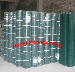 Green Powder Coated Weld Mesh Panels For Gulf Fence