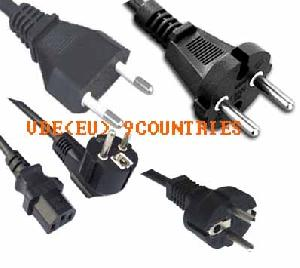 vde european power cord light cords rohs pahs