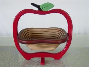 Wooden Basket Apple Shape
