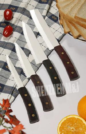 Sell White Serrated Ceramic Kitchen Knives Sandalwood Handle