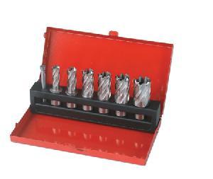 Hss Annular Cutters, 25 Mm Cutting Depth, With Weldon Shank, 6 Pcs In A Metal Box