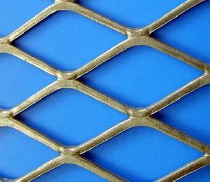 Expanded Metal Mesh, Low Carbon Steel, Diamond Shape, Construction Use