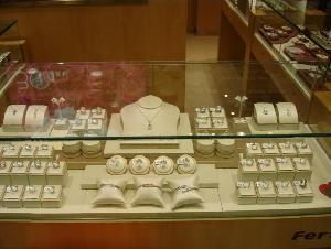 jewellery displays showcases power led lightings bars