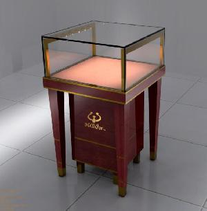 mdf toughened glass jewelry display cases dispaly cabinet showcases