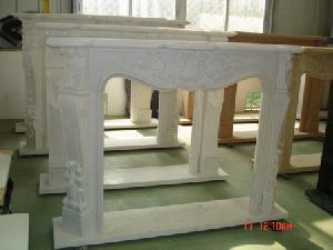 granite marble fireplace
