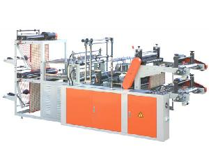 Computer Control High-speed Rolling Vest , Garbage, Flat Placket Bag-making Machine Double Layer