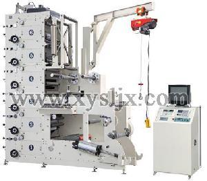 ry520 6c rolled adhesive label flexographic printing machine