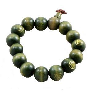 Buddhist Calligraphy Wrist Mala Wood Prayer Beads | Qh0971 ...