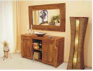 bali cabinet 2 doors mirror mahogany teak furniture antique rustic