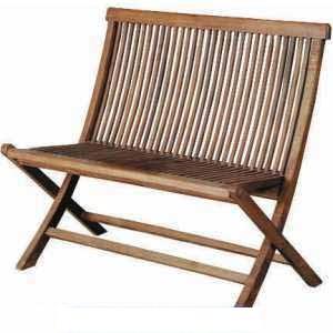 garden folding bench 2 seater teak outdoor meuble furniture
