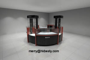 Jewelry Kiosk Store And Jewelry Display Showcase