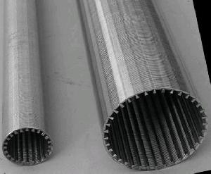 V Wire Strainer Tube , Stainless Steel Filter Pipe, Water Filter