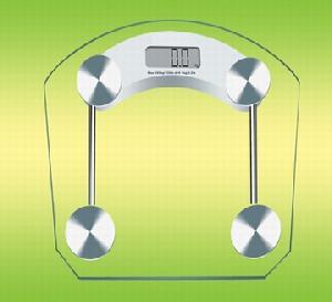 Bathroom Scales, Capacity 150kg / 0.1kg, 330lb / 0.2lb Tempered Glass
