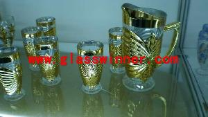 shinning drinking glass