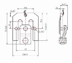 Cad Drawings And Shape Appearance Of Load Cells Used In Bathroom Scales 200kg / 0.1kg