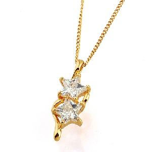 Sell 18k Gold Plating Brass Cubic Zirconia Pendant, Fashion Brass Cz Jewelry, Titanium Plated Bracel