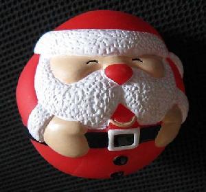 Dog Sound Ball, Soft Pvc , Saint Claus