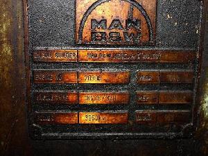 Used Man 18v28 / 32 Hfo Generator