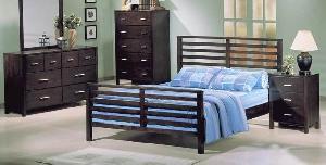 Mahogany Kiln Dry Bedroom Set Minimalist And Modern Style Wooden Indoor Furniture