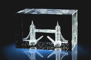 London Bridge 3d Laser Crystal