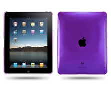 Clear Crystal Hard Case Cover For Ipad Purple