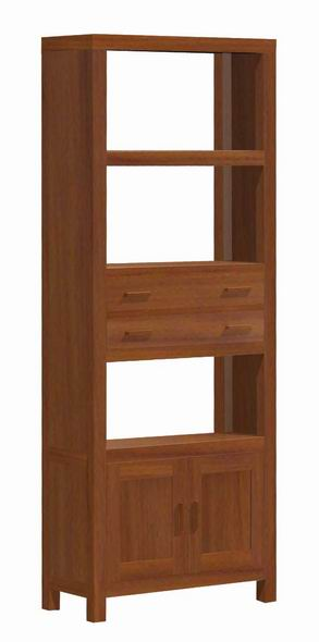 libero pico cabinet bookcase teak mahogany wooden indoor furniture java indonesia