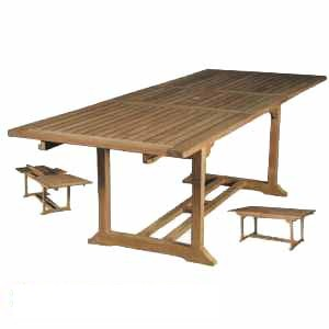 Teka Rectangular Extension Table Teak Wooden Garden