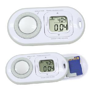 Digital World Time Clock With Sd Card Est009w
